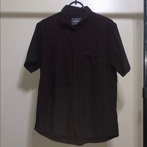 TopMan Red and Black Short Sleeve Button Down